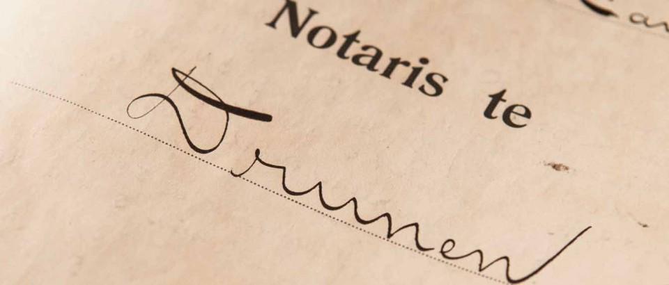 Notaris Kantoor Drunen Handschrift