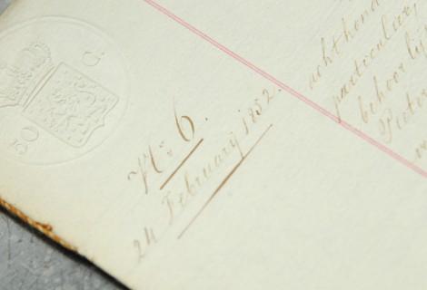 Document Notariskantoor Drunen 1852